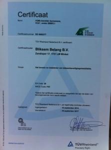 BRL 1201 certificaat